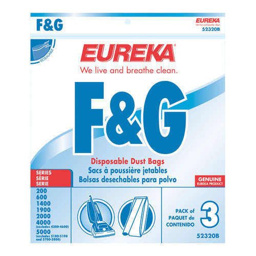 Eureka Style F&G Upright Vacuum Cleaner Bags 3pk