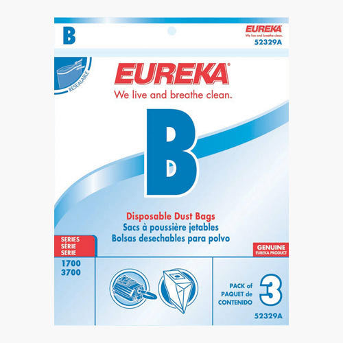 Eureka Style B Canister Vacuum Cleaner Bags 3pk
