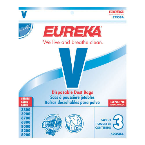 Eureka Style V Canister Vacuum Cleaner Bags 3pk