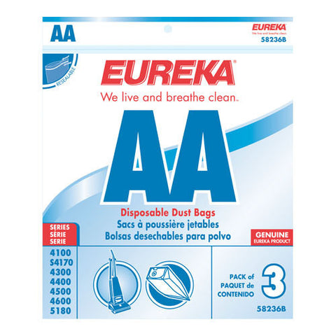 EUREKA STYLE AA UPRIGHT VACUUM CLEANER BAGS