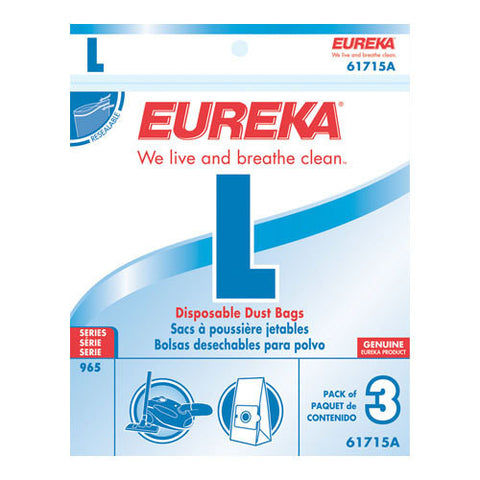 Eureka Style L Canister Vacuum Cleaner Bags 3pk