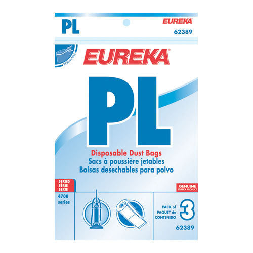 Eureka Style PL Upright Vacuum Cleaner Bags 3pk