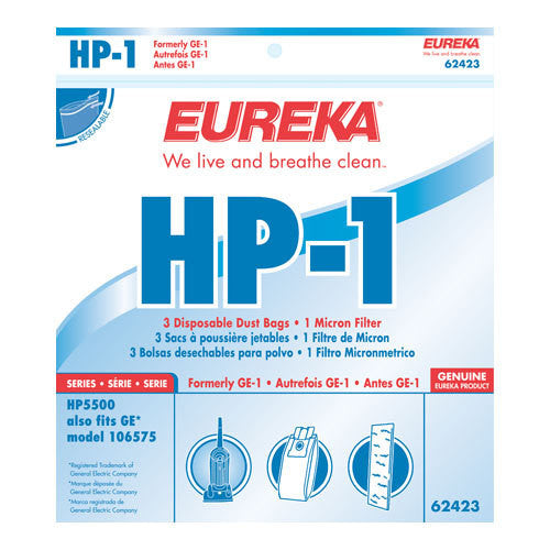 Eureka Style HP1 Upright Vacuum Cleaner Bags 3pk