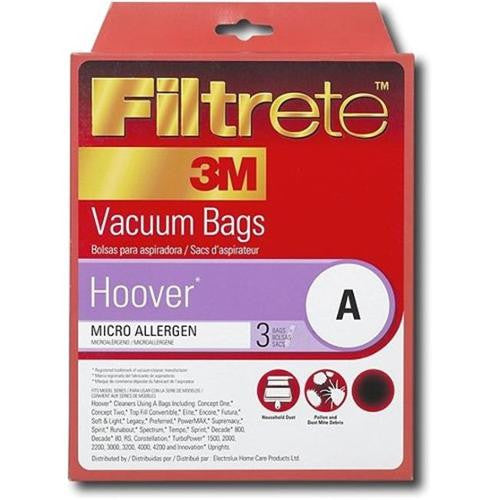 Hoover Style A Upright Vacuum Cleaner Bags 3pk