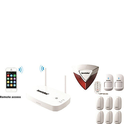 App-Based Wireless Home Security Alarm System with 8 Sensors
