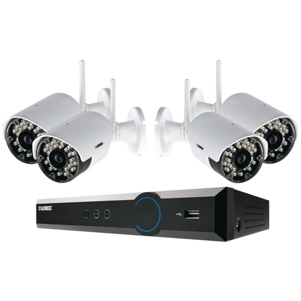4-Channel 720p HD 1TB DVR with 4 Wireless Cameras