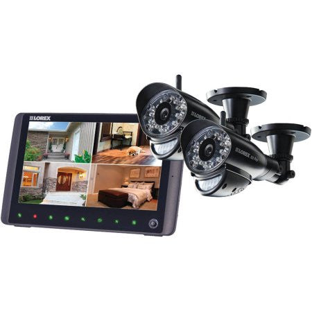 "Wireless 720p HD 7"" Monitor with 2 Bullet Cameras"