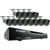 16-Channel 720p HD DVR with 12 Bullet Cameras