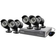 8-Channel 720p DVR with 8 720p PRO-A850 Bullet Cameras