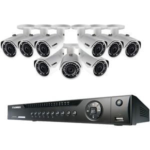 16-Channel NVR with 9 3.0-Megapixel PoE IP Cameras