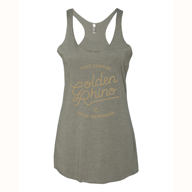 Golden Rhino - Take Charge of Your Happiness - Golden Rhino - Women's Inspired Fitness Apparel