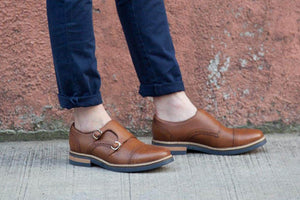Viceversa - Zapatos Monk Strap Color Miel