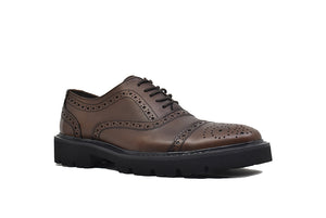 Viceversa- Zapatos Oxford Semi Brogue Color Café