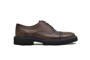 Viceversa - Zapatos Oxford Semi Brogue Color Café