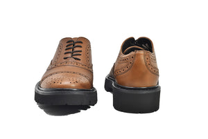 Viceversa - Zapatos Oxford Semi Brogue Color Miel