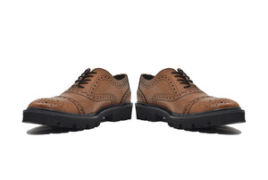 Viceversa- Zapatos Oxford Semi Brogue Color Miel
