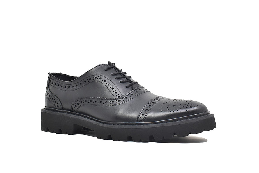 Viceversa - Zapatos Oxford Semi Brogue Color Negro