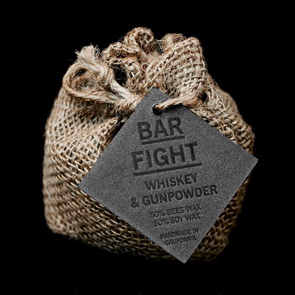 Wild Well Supply Bar Fight Candle - Whiskey & Gunpowder