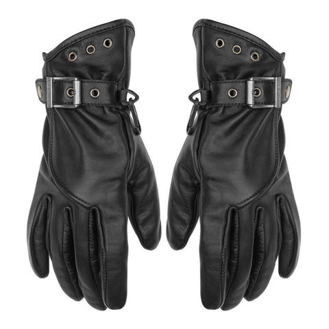Black Brand Crystal Gloves - Black