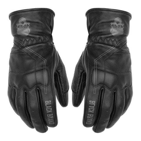 Black Brand Pinstripe Deerskin Gloves - Black