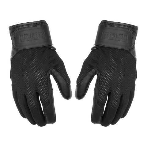 Black Brand Cool Rider Gloves - Black