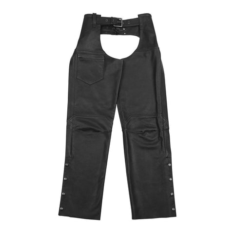 Black Brand Hotness Leather Chaps - Black