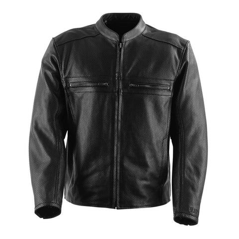 Black Brand Fahrenheit KoolTeK Perforated Leather Jacket - Black