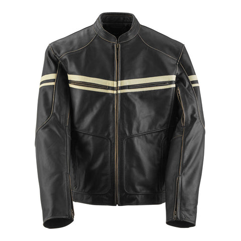 Black Brand Cutthroat Stealth Leather Jacket - Brown
