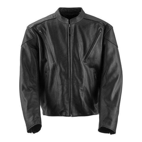 Black Brand Killer Leather Jacket - Black