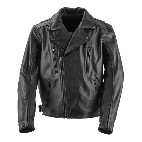 Black Brand Neanderthal Leather Jacket - Black