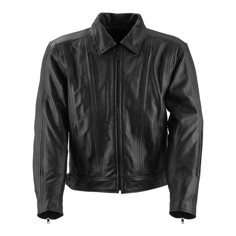 Black Brand Primary Leather Jacket - Black