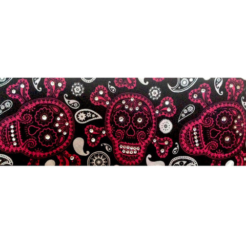 Bling Bandana (Skeleton w/ Clear Crystals)