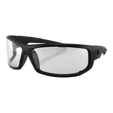 Bobster AXL Sunglasses (Black w/ Clear Lens)