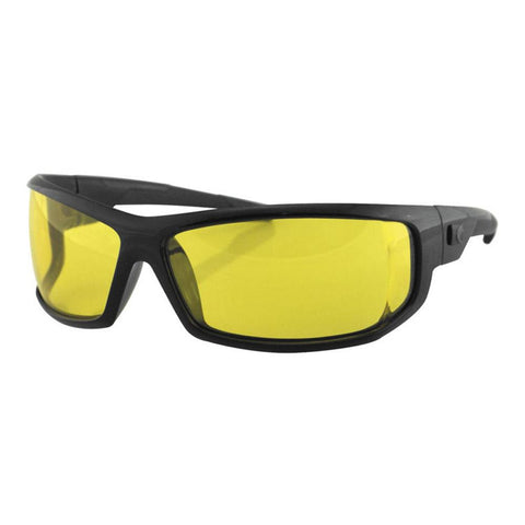 Bobster AXL Sunglasses (Black w/ Yellow Lens)