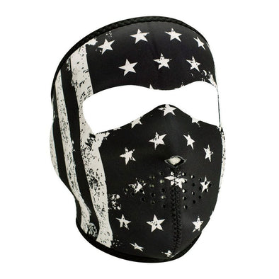 Hot Leathers Black/White American Flag Full Face Mask
