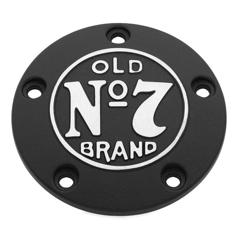 Jack Daniels 106-234 Old No. 7 Timing Cover for Harley Davidson Big Twin (Black/Machined)