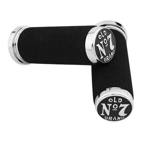 Jack Daniels 106-244 Old No. 7 Foam Dual Cable Grips (Chrome)