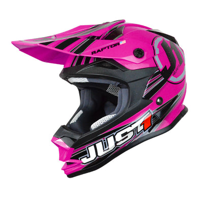 Just 1 J1V322APKRPS J32 Raptor Open Face Helmet - Pink (SM)