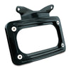 Kuryakyn 3147 Gloss Black Curved License Plate Frame for Harley Davidson Touring