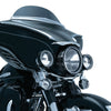 Kuryakyn 7271 Gloss Black LED Halo Passing Lamp Trim Rings for Harley Davidson