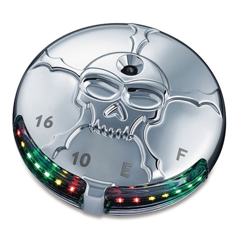 Kuryakyn 7357 Zombie LED Fuel & Battery Gauge for Harley Davidson Dyna/Softail/Touring