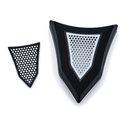 Kuryakyn 7397 Gloss Black Krusader Horn Cover for Harley Davidson