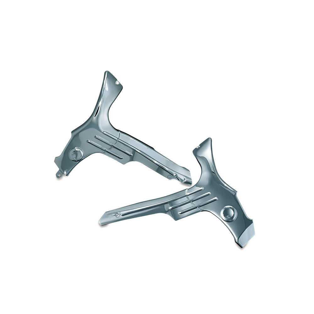 Kuryakyn 8911 Chrome Boomerang Frame Covers for Suzuki Hayabusa GSX1300R
