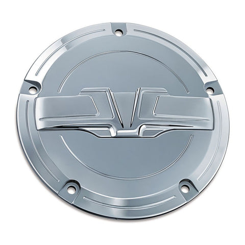 Kuryakyn Bahn 6933 Chrome Derby Cover for Harley Davidson Dyna/Softail/Touring