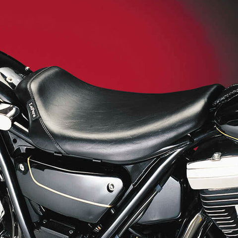 Le Pera L-008 Smooth Bare Bones Solo Seat for Harley Davidson FXR
