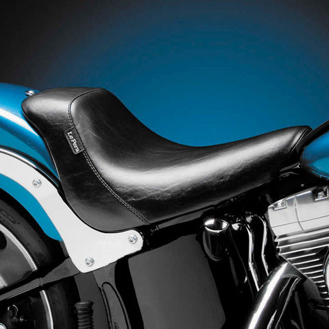 Le Pera LGK-007 Smooth Bare Bones Solo Seat w/ Biker Gel for Harley Davidson Softail