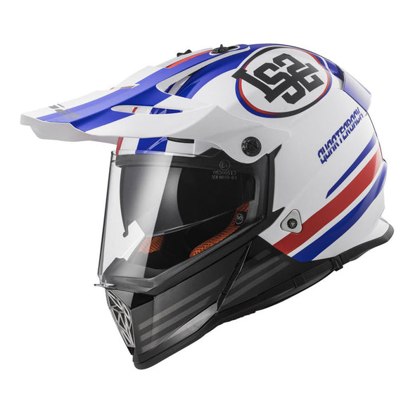 LS2 Pioneer Quarterback Full Face Adventure Helmet w/ Sunshield