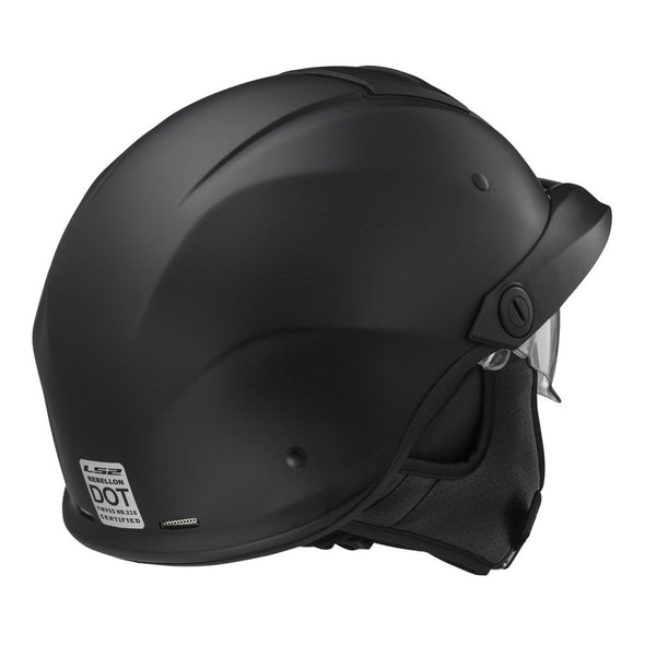 LS2 Rebellion Solid Half Helmet w/ Sunshield