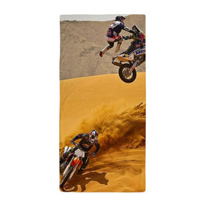 Motocross Riders Beach Towel