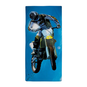 Motocross Side Trick Beach Towel